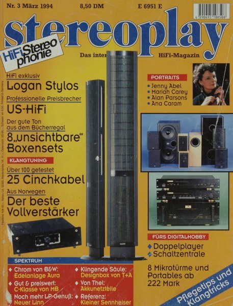 Stereoplay 3/1994 Zeitschrift