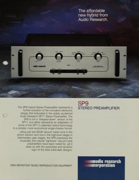 Audio Research Corporation SP 9 Prospekt / Katalog