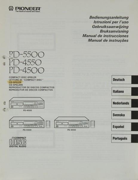 Pioneer PD-5500 / PD-4550 / PD-4500 Bedienungsanleitung