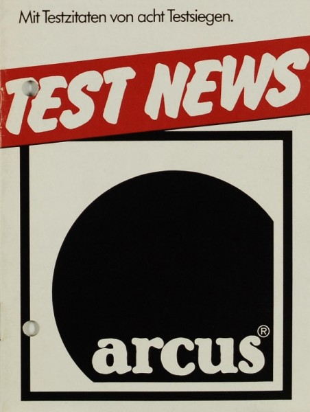 Arcus Test News Prospekt / Katalog