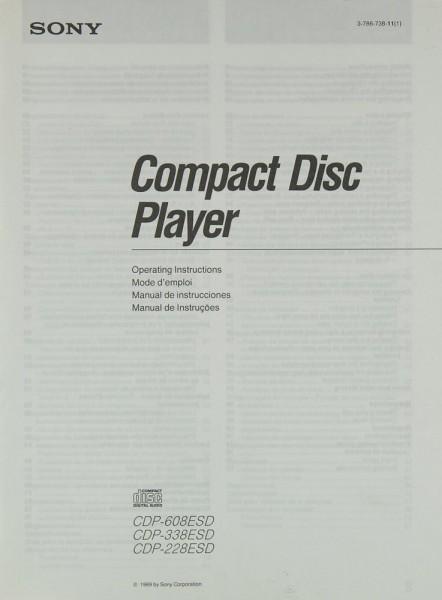 Sony CDP-608 ESD / CDP-338 ESD / CDP-228 ESD Bedienungsanleitung