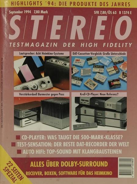 Stereo 9/1994 Zeitschrift