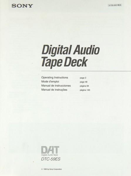 Sony DTC-59 ES Bedienungsanleitung
