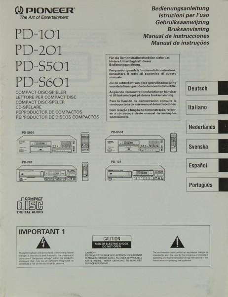 Pioneer PD-101 / 201 / PD-S 501 / 601 Bedienungsanleitung
