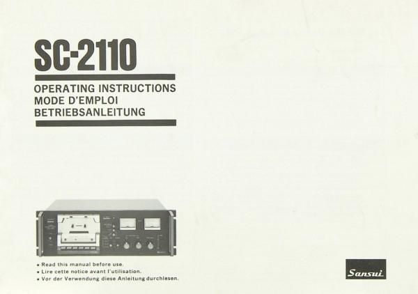 Sansui SC-2110 Bedienungsanleitung