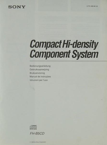 Sony FH-B 5 CD Bedienungsanleitung