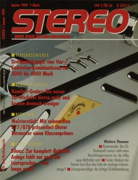 Stereo 1/1989 Zeitschrift