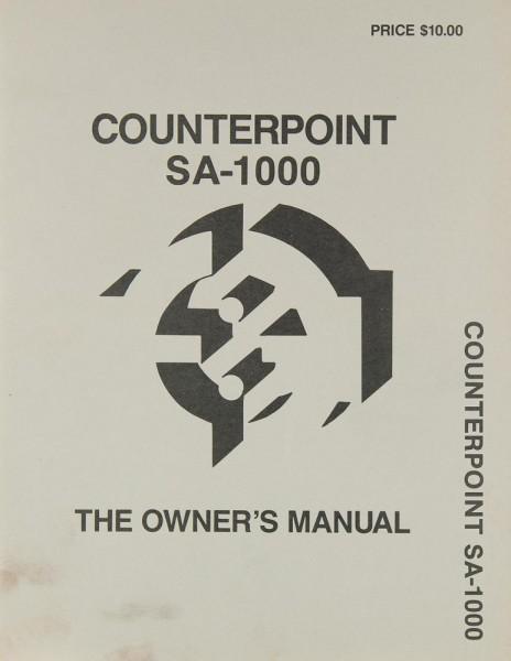 Counterpoint SA-1000 Bedienungsanleitung