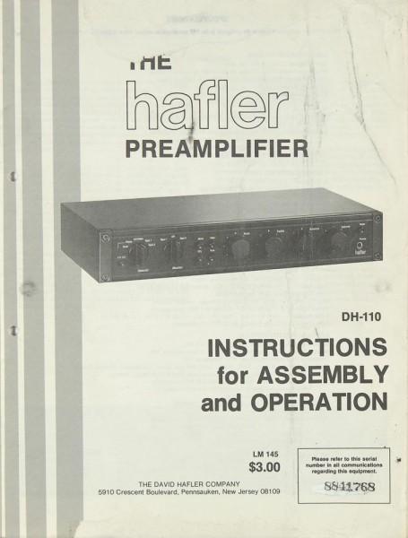 Hafler DH-110 Bedienungsanleitung