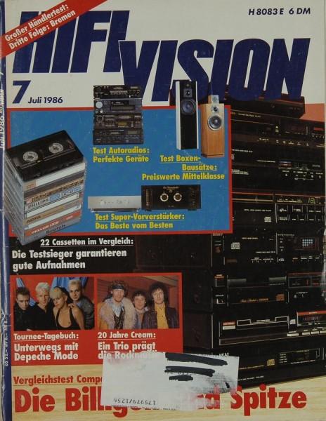 Hifi Vision 7/1986 Zeitschrift