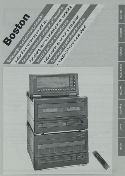 Boston Kompaktanlage Bedienungsanleitung