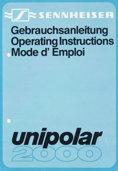 Sennheiser Unipolar 2000 Bedienungsanleitung