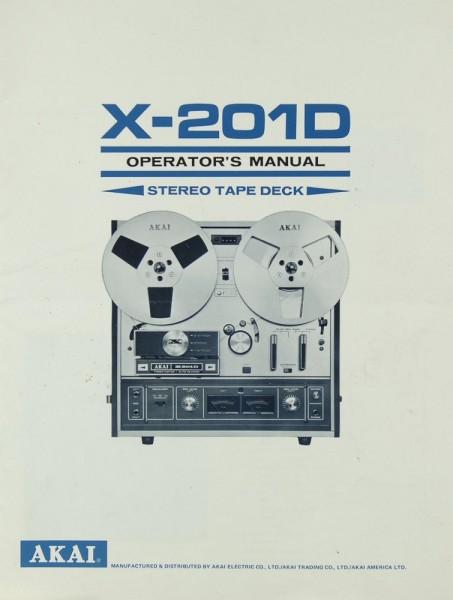 Akai X-201 D Bedienungsanleitung