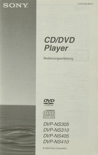 Sony DVP-NS 305 / DVP-NS 310 / DVP-NS 405 / DVP-NS 410 Bedienungsanleitung