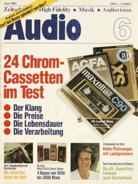 Audio 6/1981 Zeitschrift