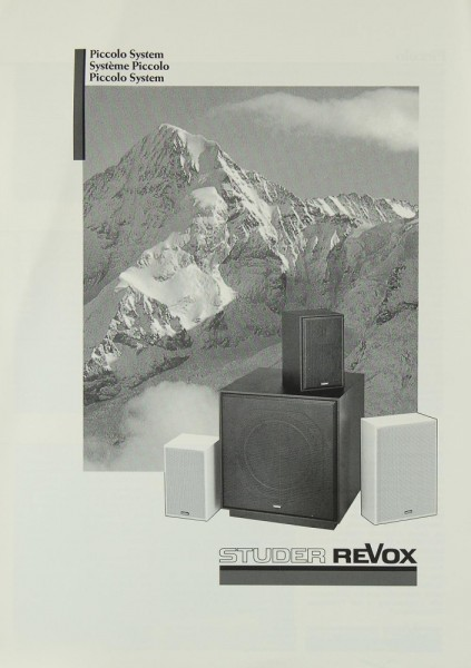 Revox Piccolo System Bedienungsanleitung