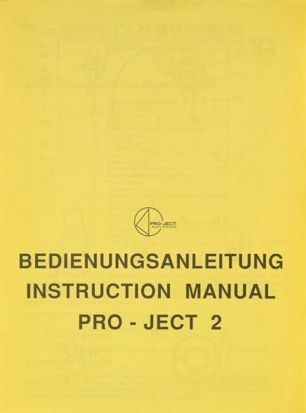Pro-Ject 2 Bedienungsanleitung