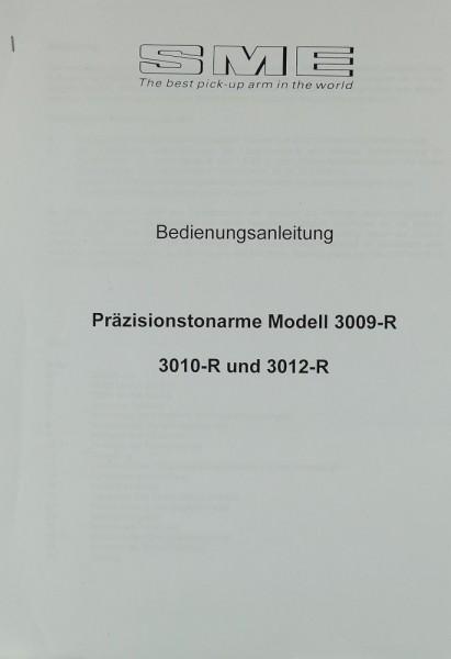 SME Modell 3009-R / 3010-R / 3012-R Bedienungsanleitung