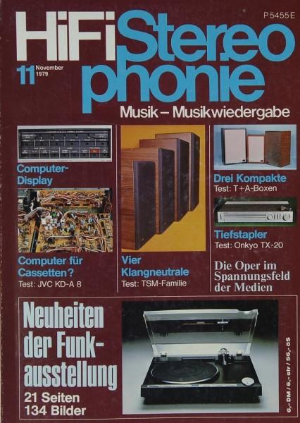 Hifi Stereophonie 11/1979 Zeitschrift