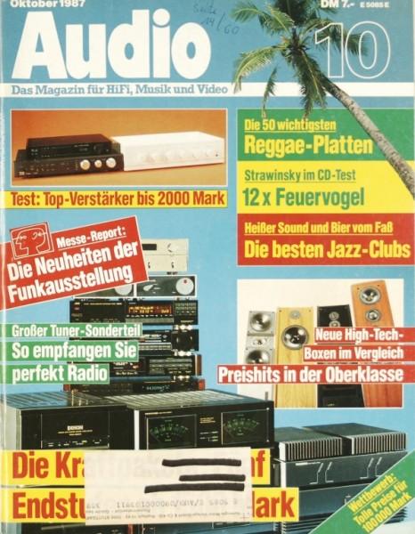 Audio 10/1987 Zeitschrift