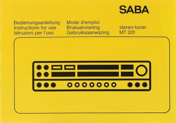 Saba MT 201 Bedienungsanleitung