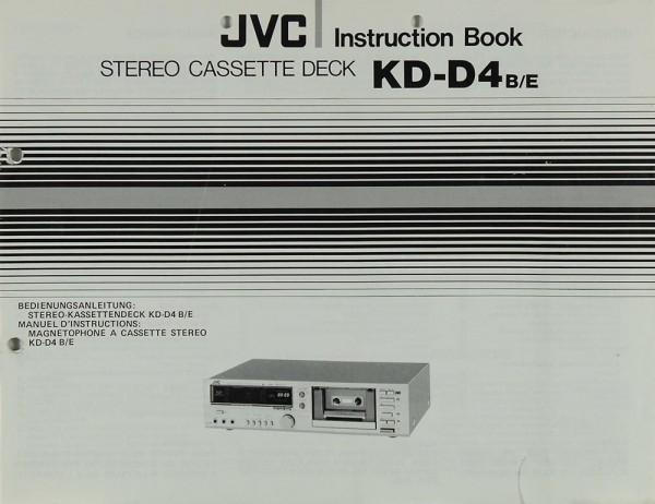 JVC KD-D4 B/E Bedienungsanleitung