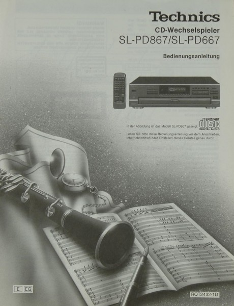 Technics SL-PD 867 / 667 Bedienungsanleitung