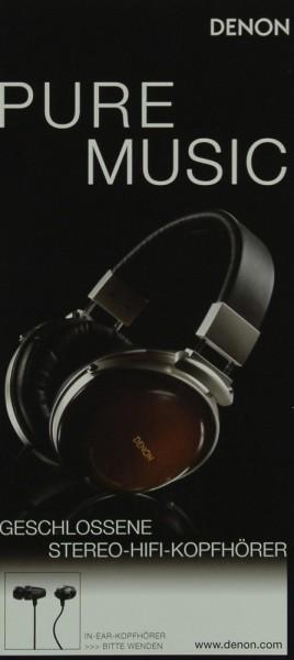 Denon Pure Music / Heavy Metal Kopfhörer Prospekt / Katalog