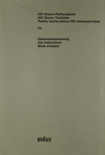 Braun P 3 Bedienungsanleitung
