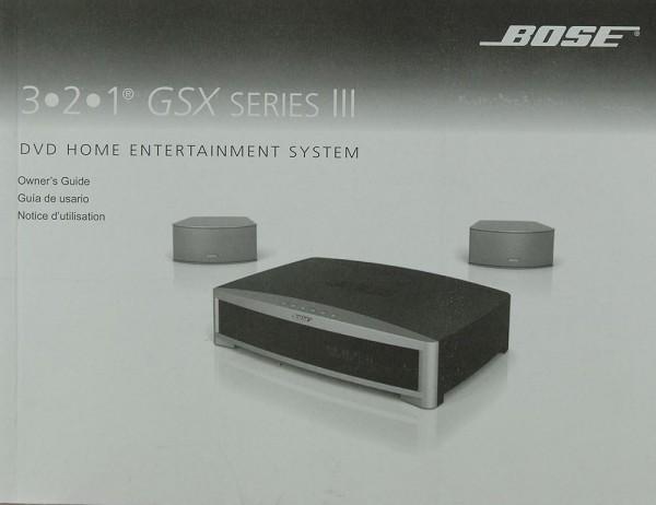 Bose 3.2.1 GSX Series III Bedienungsanleitung