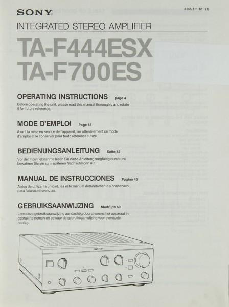 Sony TA-F4443 ESX, TA-F 700 ES Bedienungsanleitung
