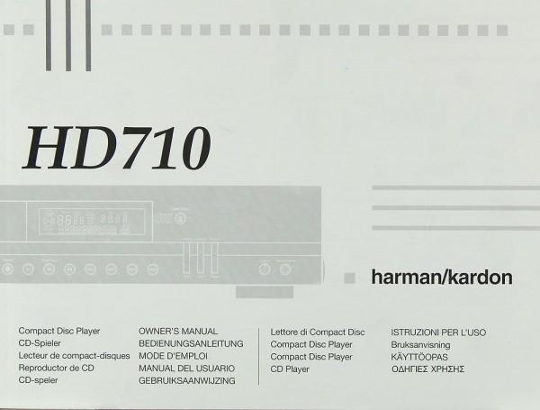 Harman / Kardon HD 710 Bedienungsanleitung