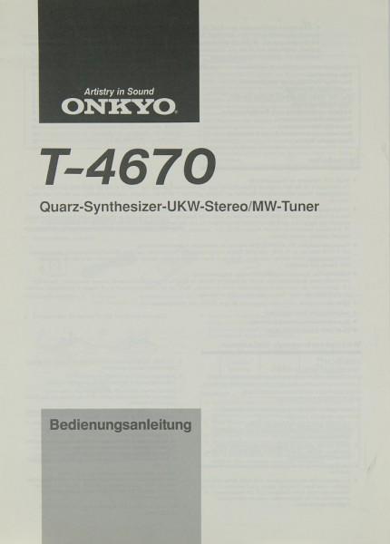 Onkyo T-4670 Bedienungsanleitung