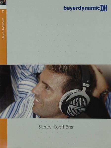 Beyerdynamic Stereo-Kopfhörer Prospekt / Katalog