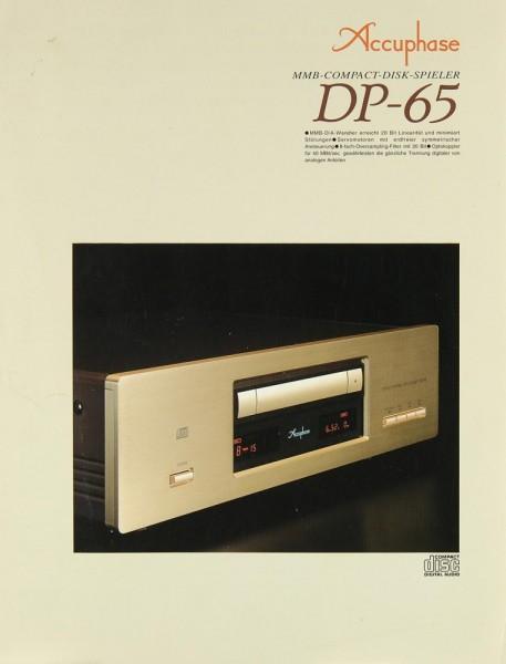 Accuphase DP-65 Prospekt / Katalog