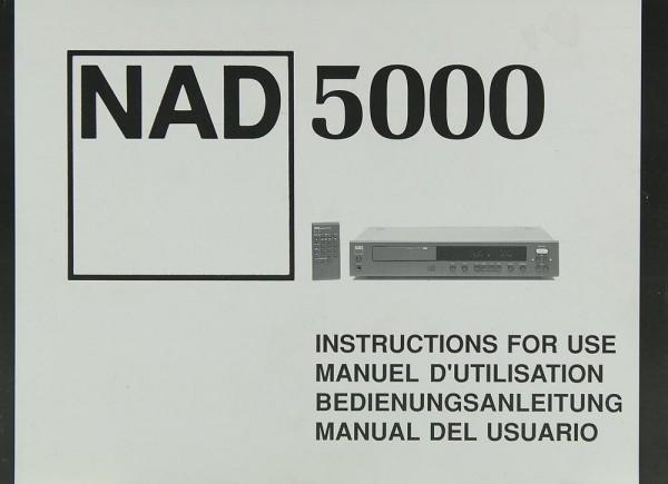 NAD 5000 Bedienungsanleitung