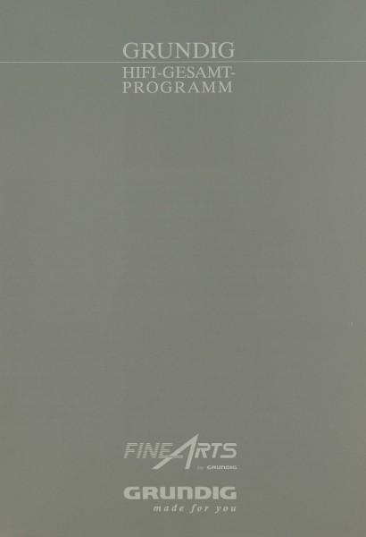 Fine Arts / Grundig Hifi Gesamtprogramm Prospekt / Katalog