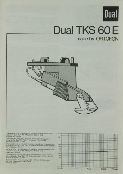 Dual TKS 60 E Bedienungsanleitung
