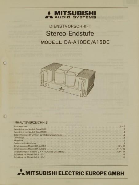 Mitsubishi DA-A 10 DC / A 15 DC Schaltplan / Serviceunterlagen