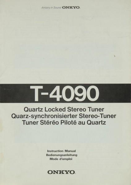 Onkyo T-4090 Bedienungsanleitung