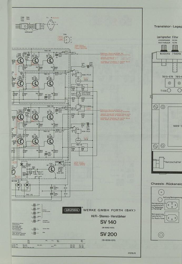 grundig sv 140    sv 200 schematics    service manual