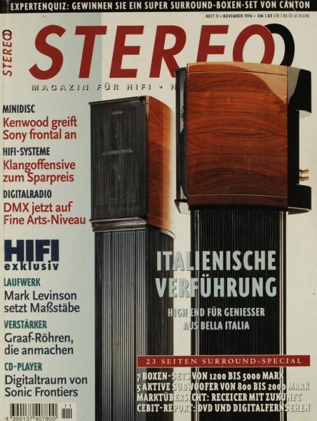 Stereo 11/1996 Zeitschrift