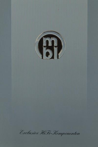 MBL Exclusive HiFi-Komponenten Prospekt / Katalog
