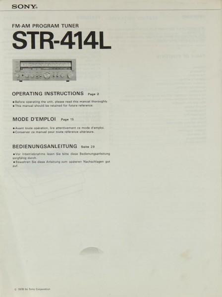 Sony STR-414 L Bedienungsanleitung