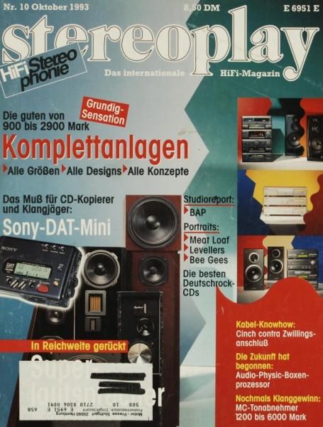 Stereoplay 10/1993 Zeitschrift