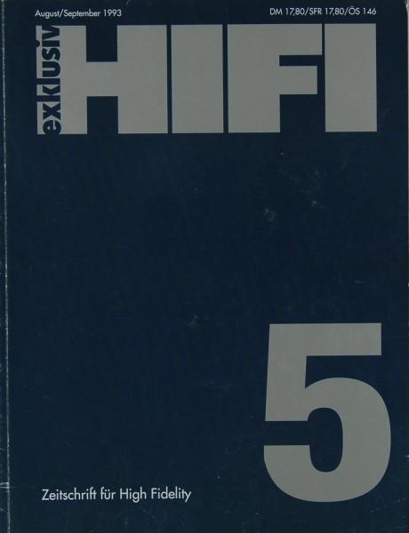 Hifi Exklusiv 5 / 1993 Zeitschrift