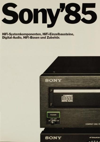 Sony Sony ´85 Prospekt / Katalog