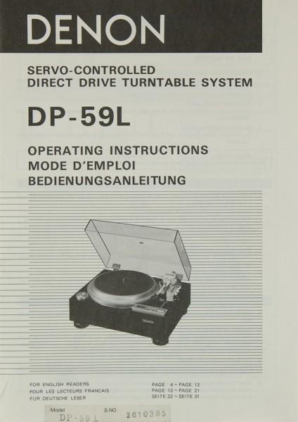 Denon DP-59 L Bedienungsanleitung