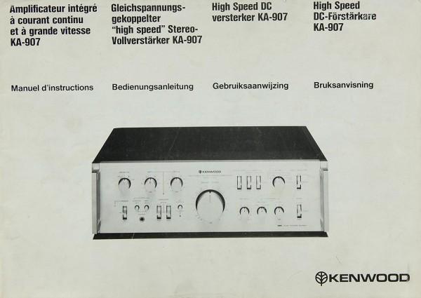 Kenwood KA-907 Bedienungsanleitung