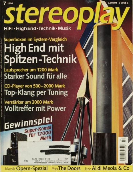 Stereoplay 7/1996 Zeitschrift